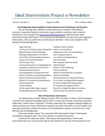 printable PDF - ACPE Research Network