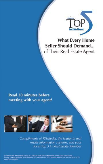 What Every Home Seller Should Demand... of Their Real Estate Agent
