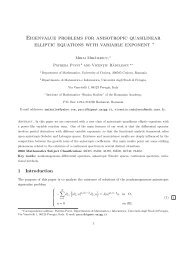 Eigenvalue problems for anisotropic quasilinear elliptic equations ...