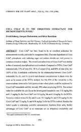 COCA COLA® IS IT! THE UBIQUITOUS EXTRACTANT FOR ...