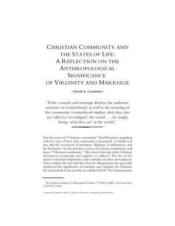 David S. Crawford. Christian Community and the States ... - Communio