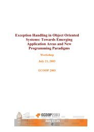 Exception Handling in Object Oriented Systems - Computing Science
