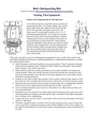 How to Pack a Backpack - Troop 586
