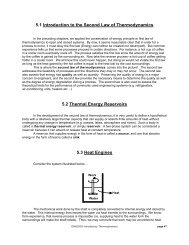 5.1 Introduction to the Second Law of Thermodynamics 5.2 Thermal ...