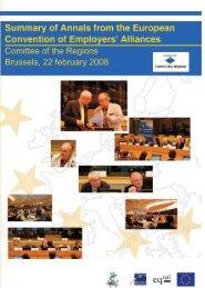 I. Employers' Alliances - Pactes Locaux