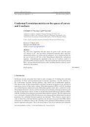 Conformal Lorentzian metrics on the spaces of curves and 2-surfaces