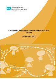 children's emotional wellbeing strategy - Western Health and Social ...