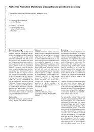Genetische Tests in der Patientenversorgung Alzheimer Krankheit ...