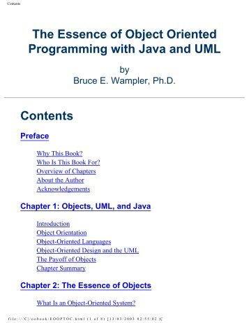 The Essence of Object Oriented Programming with Java - To Parent ...