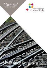 Liebe Leserinnen, lieber Leser - Kirchengemeine Christus König Porz