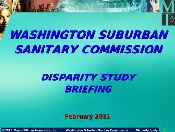WSSC 2010 Disparity Presentation