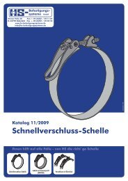 Schnellverschluss-Schelle - HS-Befestigungssysteme