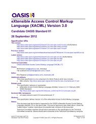 eXtensible Access Control Markup Language (XACML) Version 3.0