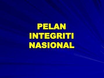 pelan integriti nasional (PIN) - NRE