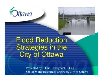 Flood Reduction Strategies in the City of Ottawa Flood Reduction ...