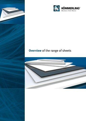 overview of the range of sheets - bei KÖMMERLING KUNSTSTOFFE
