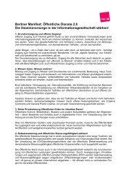 Berliner Manifest: Öffentliche Dienste 2.0 Die ... - ver.di NEWS
