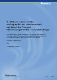 The Status of Teachers and the Teaching Profession - Communities ...