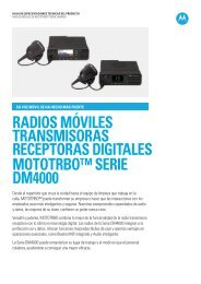 radios móviles transmisoras receptoras digitales ... - Radiotrans