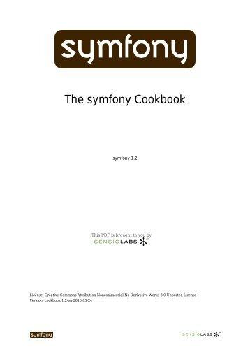 The symfony Cookbook