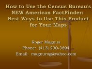 How to Use the Census Bureau's NEW American FactFinder: Best ...