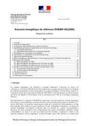 Scénario énergétique de référence DGEMP-OE(2008)