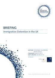 Immigration Detention Briefing