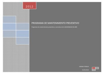programa de mantenimiento preventivo 2012