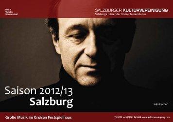 Jahresprogramm 2012/13 - Salzburger Kulturvereinigung