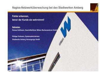 Nagios-Netzwerküberwachung bei den Stadtwerken Amberg