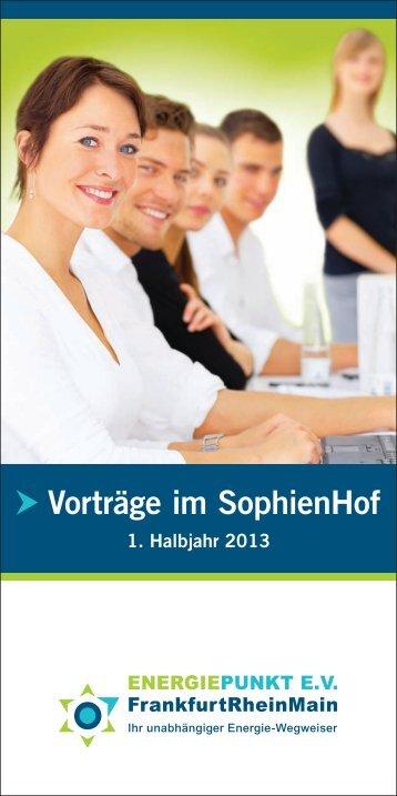 Vorträge im SophienHof - Energiepunkt-frankfurt.de