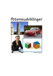 Potensudviklinger - matematikfysik