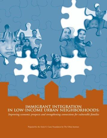 IMMIGRANT INTEGRATION IN LOW-INCOME ... - Urban Institute