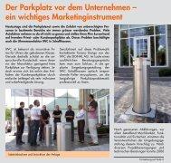 Der Parkplatz vor dem Unternehmen – ein wichtiges ... - Signal AG