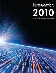 2010 Annual Report Form 10-K - Informatica