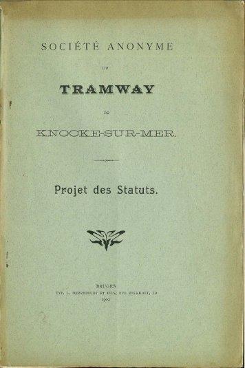 Pto~et des Statuts.