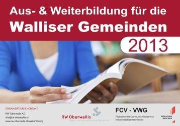 Walliser Gemeinden - RW Oberwallis