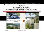 Train Express Régionaux - ORT PACA