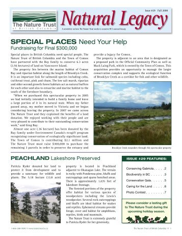 Fall Newsletter 2008 - Nature Trust of British Columbia