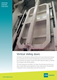 Vertical sliding doors MARINE - TTS Group ASA