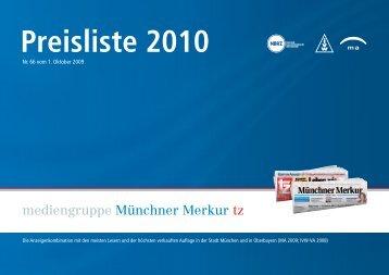 Preisliste 2010