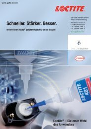 Loctite® Sofortklebstoffe - Webshop - GaFa Tec Handels GmbH