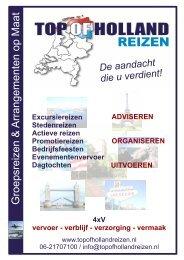 BROCHURE GEHEEL - Top of  Holland Reizen