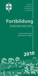 Fortbildung - Kirchenmusik in Baden