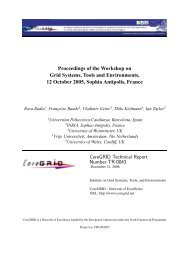 Proceedings of the Workshop on Grid Systems, Tools and ...
