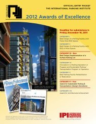2012 Awards of Excellence - International Parking Institute