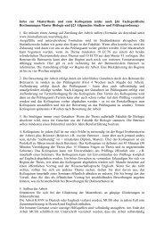 Infos zu Masterthesis und Kolloquium - Biostudium.uni-wuerzburg.de