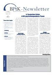 BPtK Newsletter 02-2012