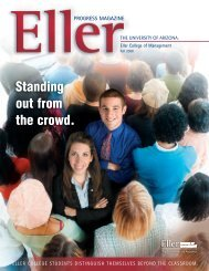 Standing out from the crowd. - Eller College of Management ...