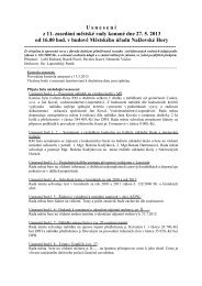 Zápis ze zasedání městské rady konané dne 15 - Nalžovské Hory